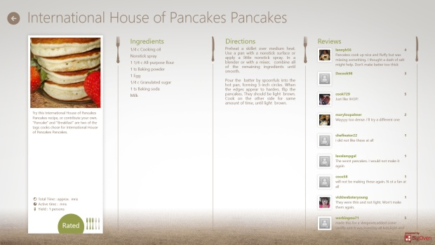 Top 10 Windows 8 Apps: Cookbook