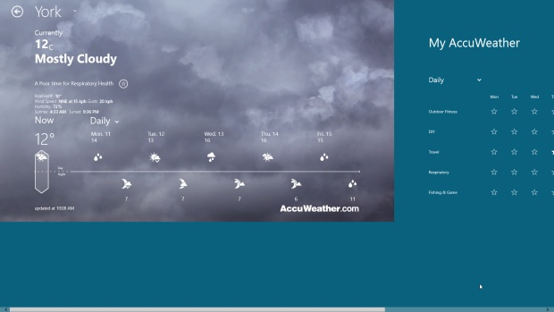 Top 10 Windows 8 Apps: AccuWeather