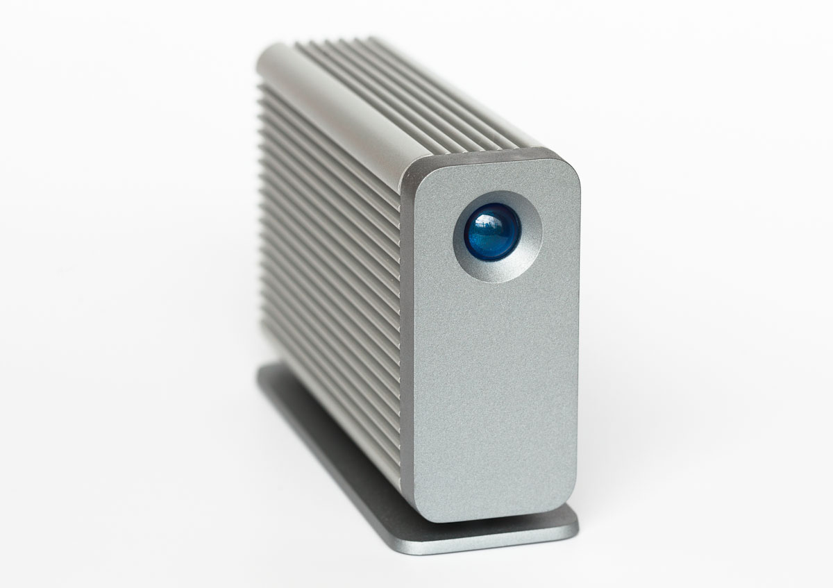 LaCie's Little Big Disk, available with either hard drives or a faster flash-based SSD, was one of the earliest Thunderbolt products on the market.