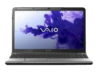"Sony VAIO E Series SVE15112FXS - Core i3 2370M / 2.4 GHz - Windows 7 Home Premium 64-bit - 4 GB RAM - 640 GB HDD - DVD-Writer - 15.5"" wide 1366 x 768 / HD - Intel HD Graphics 3000 - aluminum silver - keyboard: QWERTY"