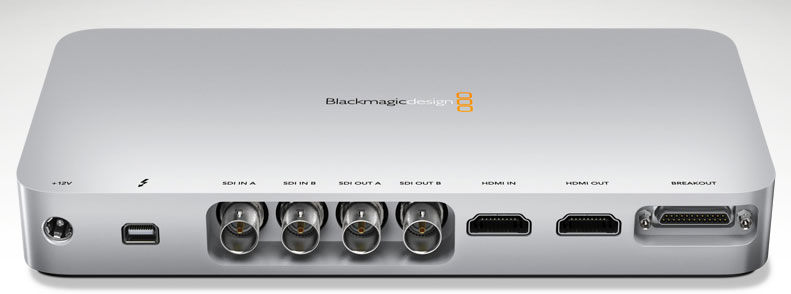 Blackmagic Design's UltraStudio 3D is emblematic of the high-end video abilities of Thunderbolt. It's able to handle input and output of professional-grade video that hasn't been compressed heavily.