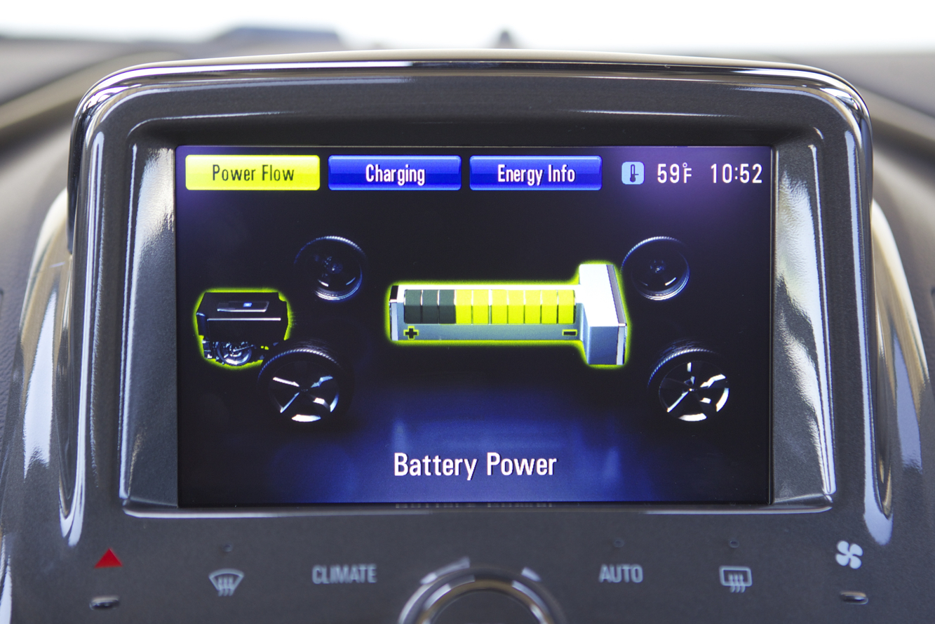 Chevrolet Volt power screen