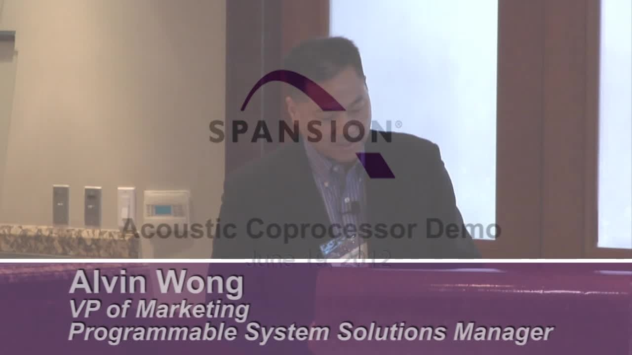 Video: Spansion Acoustic Coprocessor demonstration