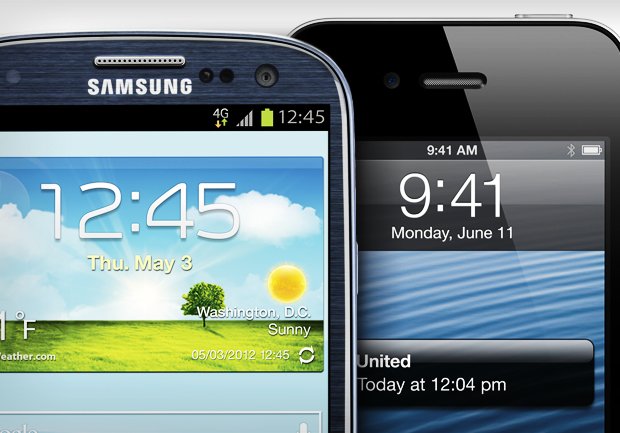 Samsung Galaxy S III, GSIII, GS3, iPhone