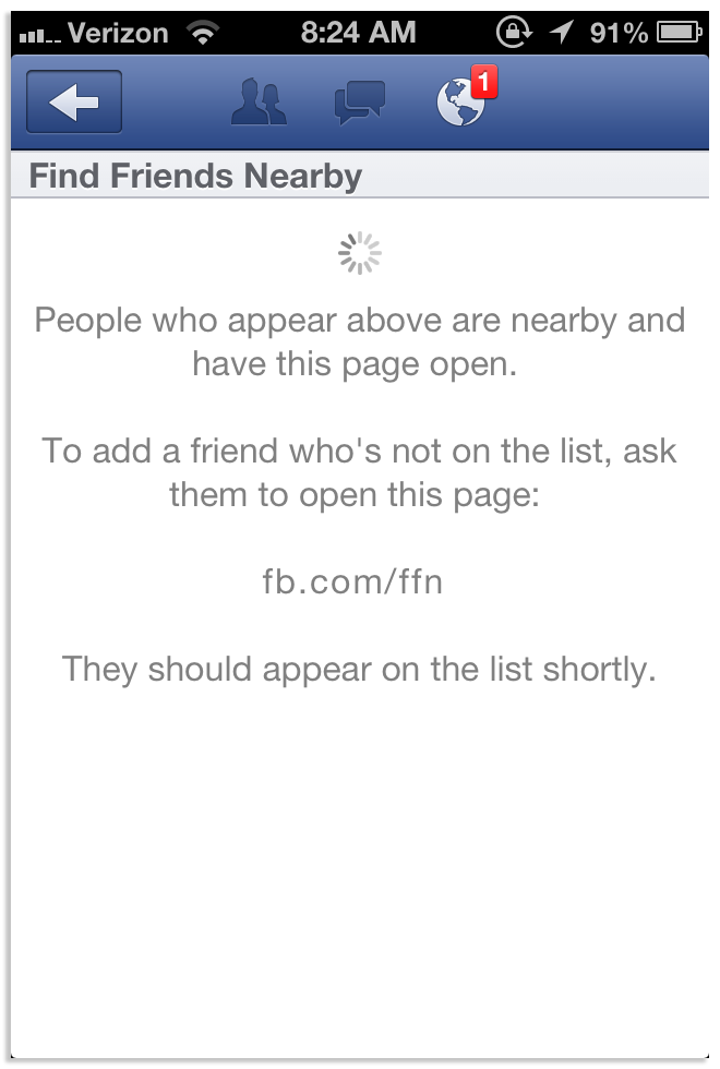 Facebook's new friend finding feature.