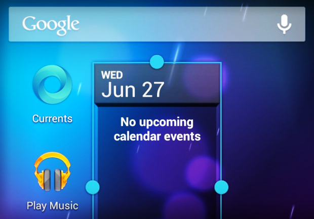 Resizable widgets are new to Android 4.1 Jelly Bean