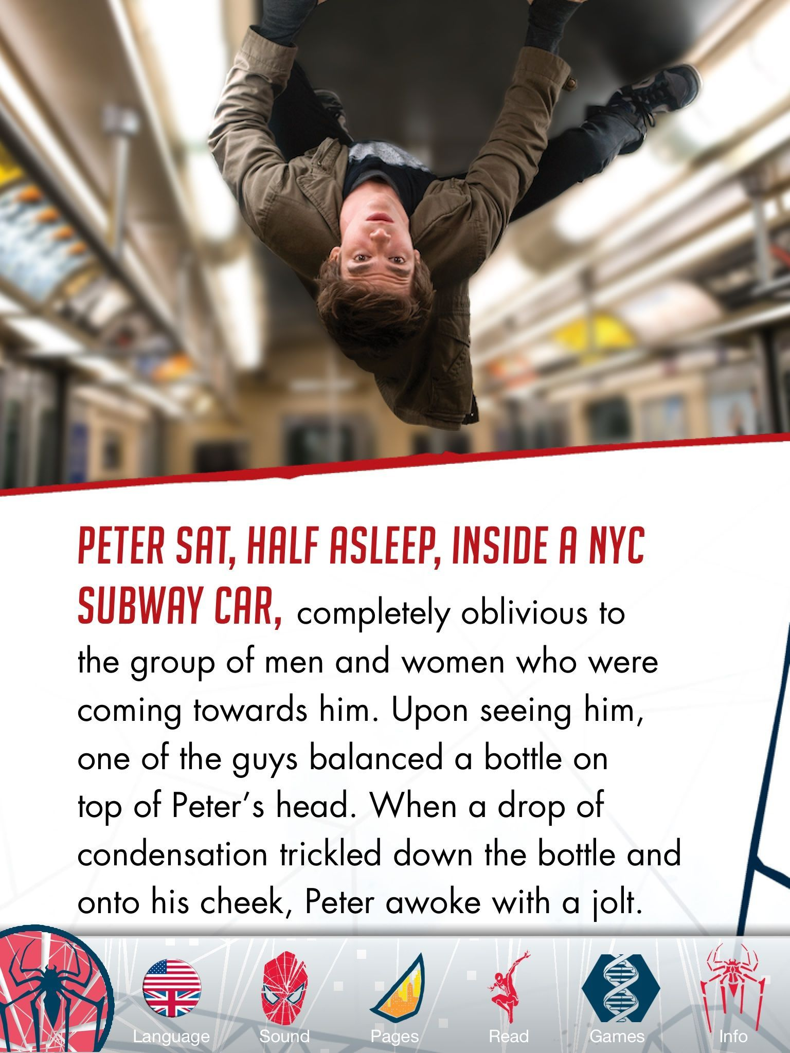 The Spider-Man AR Book HD tells the story of the movie and includes a couple camera-enhanced mini-games.