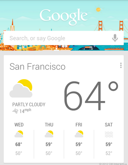 Google Search App with Google Now