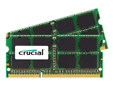 Crucial memory - 16 GB : 2 x 8 GB - SO DIMM 204-pin - DDR3