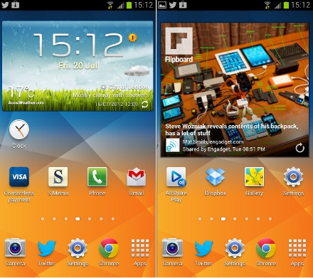Samsung Galaxy S3 Homescreens