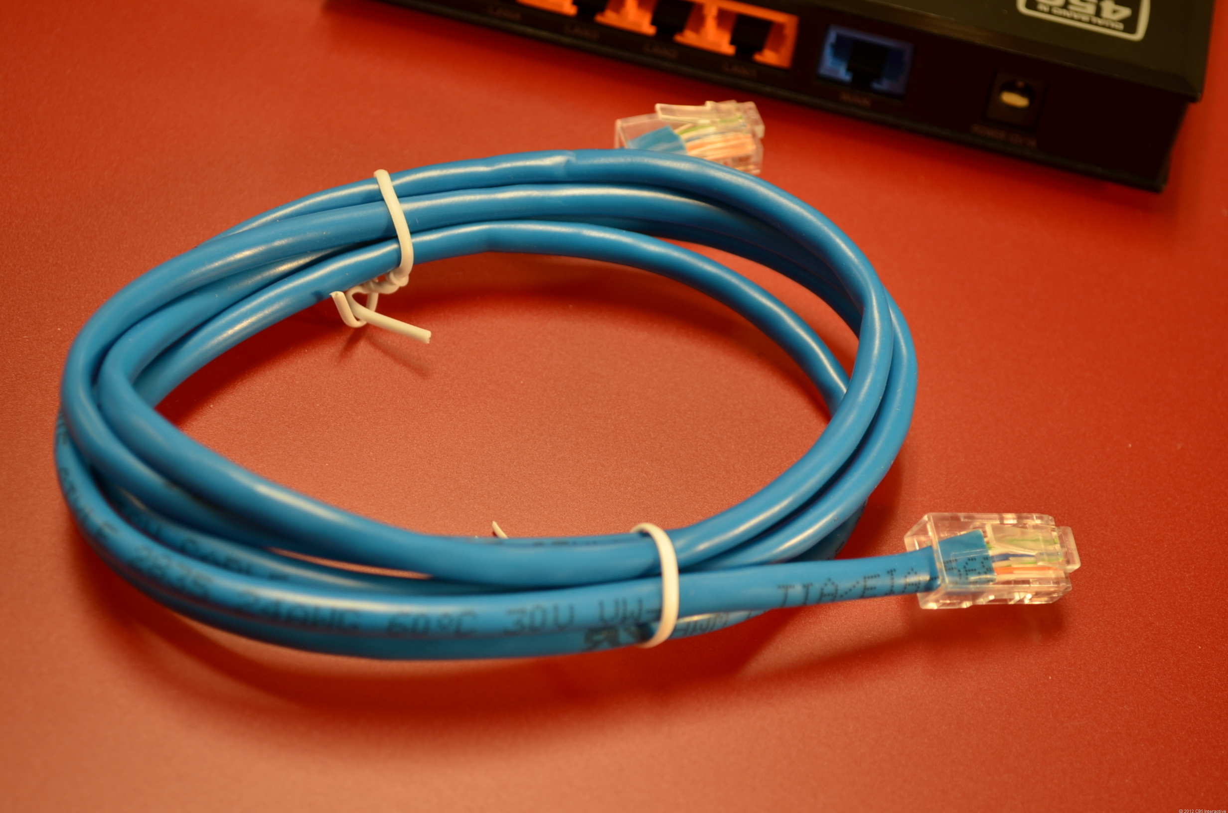 A typical CAT5e network cable.