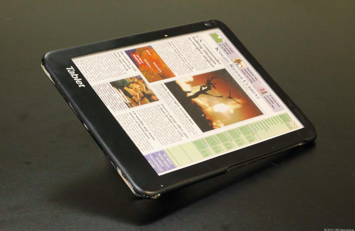 The Fidler tablet, a prototype device Samsung is pointing to as pre-dating the iPad.