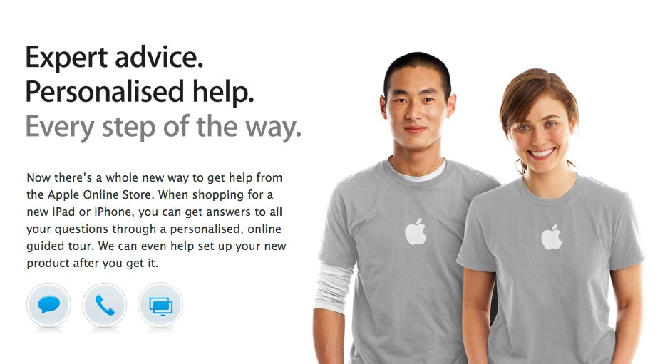 Apple's store specialists are now available online in some countries.