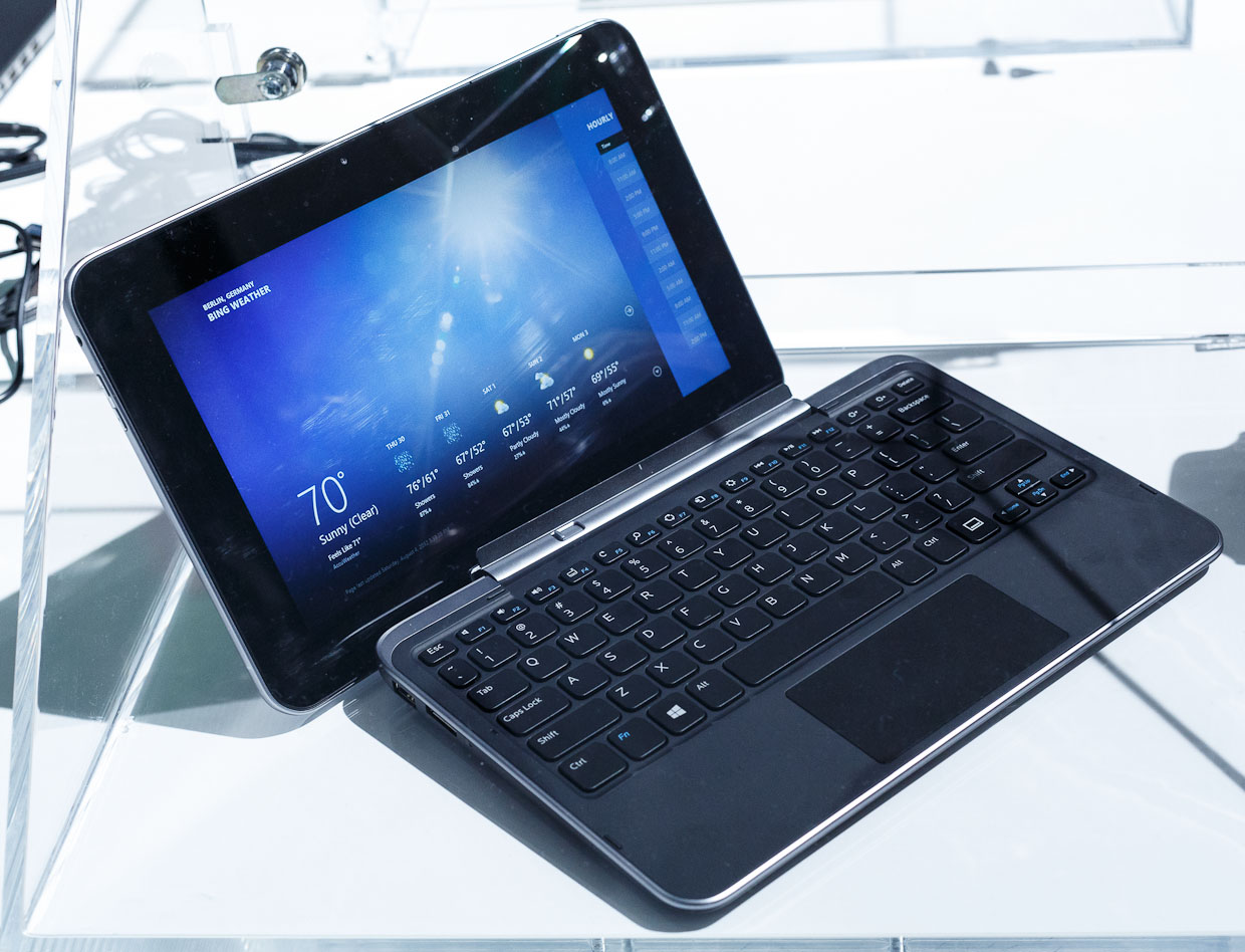 Microsoft may be getting into this market, but Dell isn't deterred. It announced its XPS 10 Windows RT tablet at the IFA consumer-electronics show in Berlin. It's got a detachable keyboard.