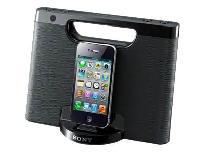 Sony RDP-M7iP - speaker dock - with Apple cradle - For Portable use - wired