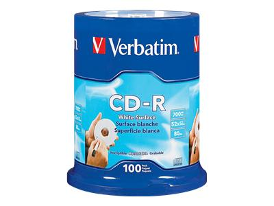 CD-R, 80 Minute, 700MB, 52X, DataLifePlus (100-Pack Spindle)