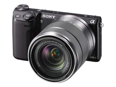 Sony Alpha NEX-5 (with 18-55mm lens, black)