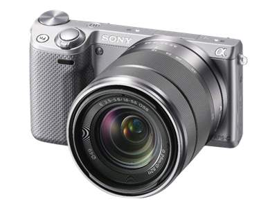 Sony Alpha NEX-5R (with 18-55mm lens, silver)
