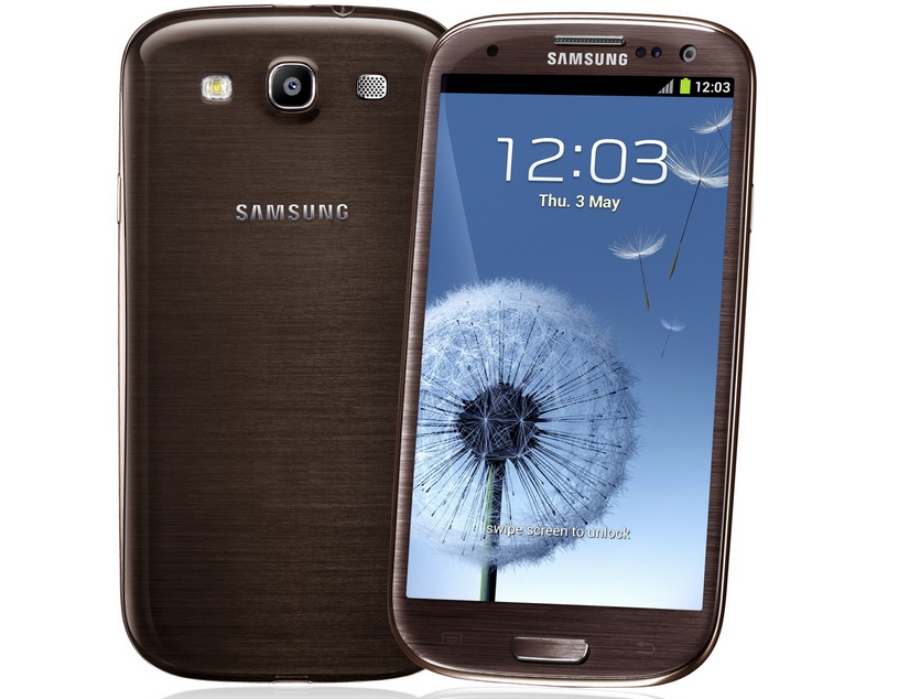 Samsung Galaxy S3 in amber brown