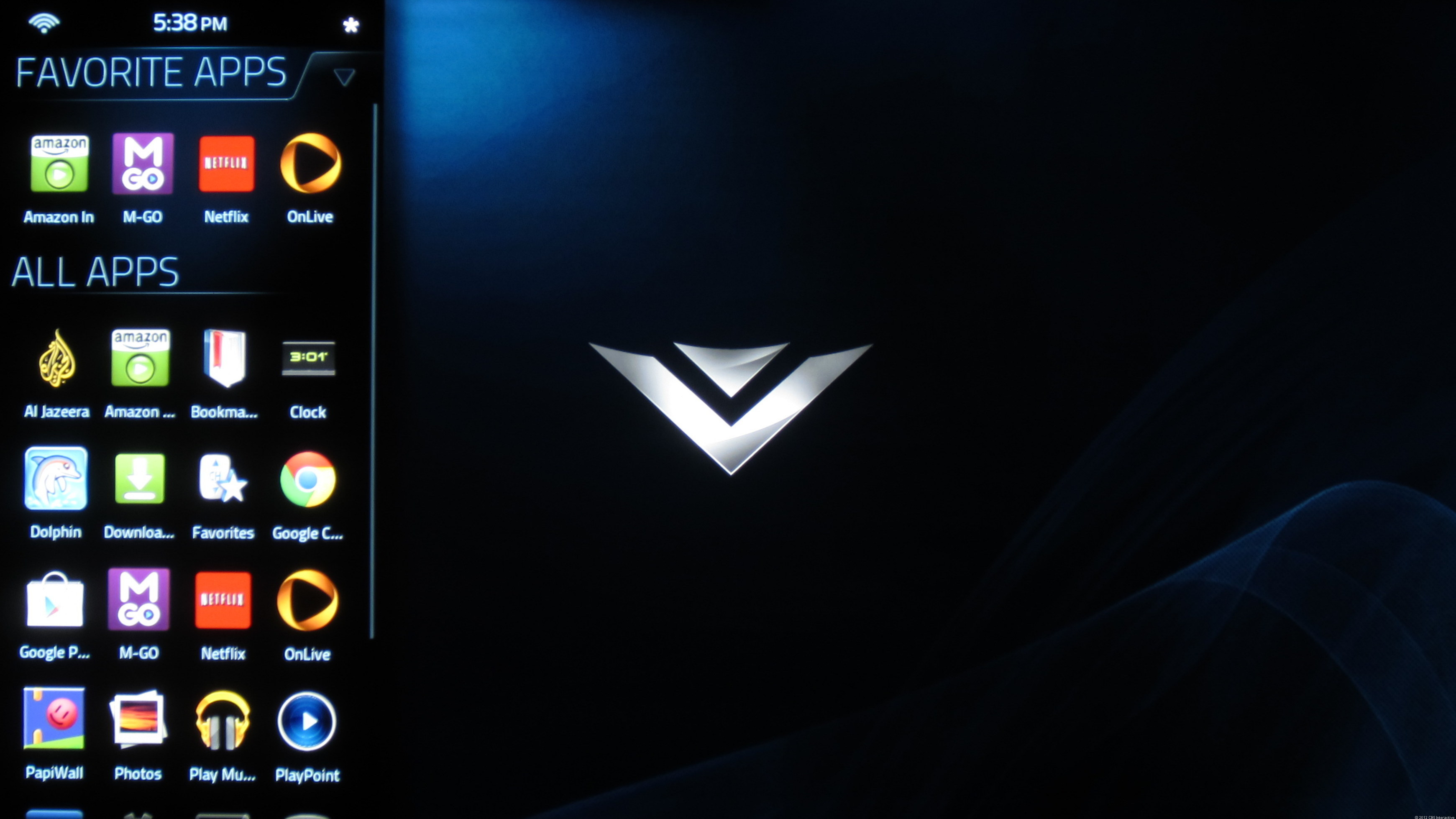 Vizio Co-Star user interface