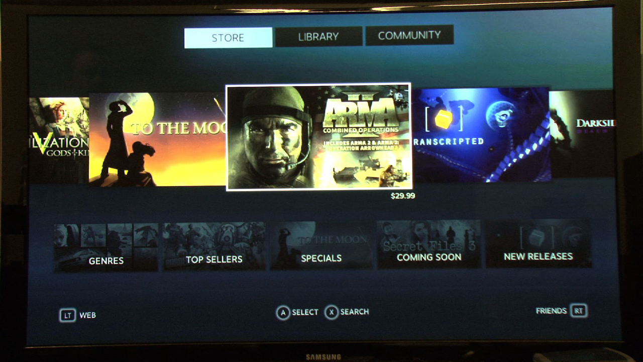 Video: Valve's Big Picture mode brings Steam to your living room