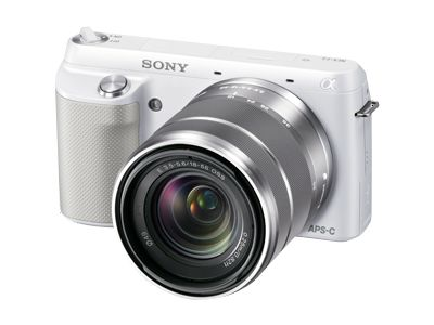 Sony Alpha NEX-F3 (with 18-55mm lens, White)