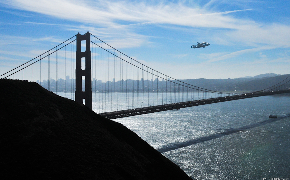 Endeavour over the Bay