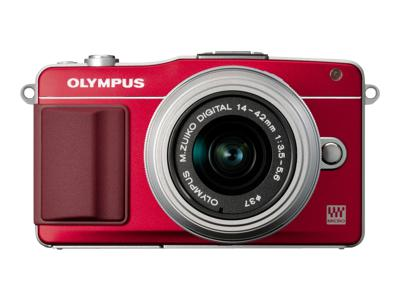 Olympus PEN E-PM2 (Body Only, Red)