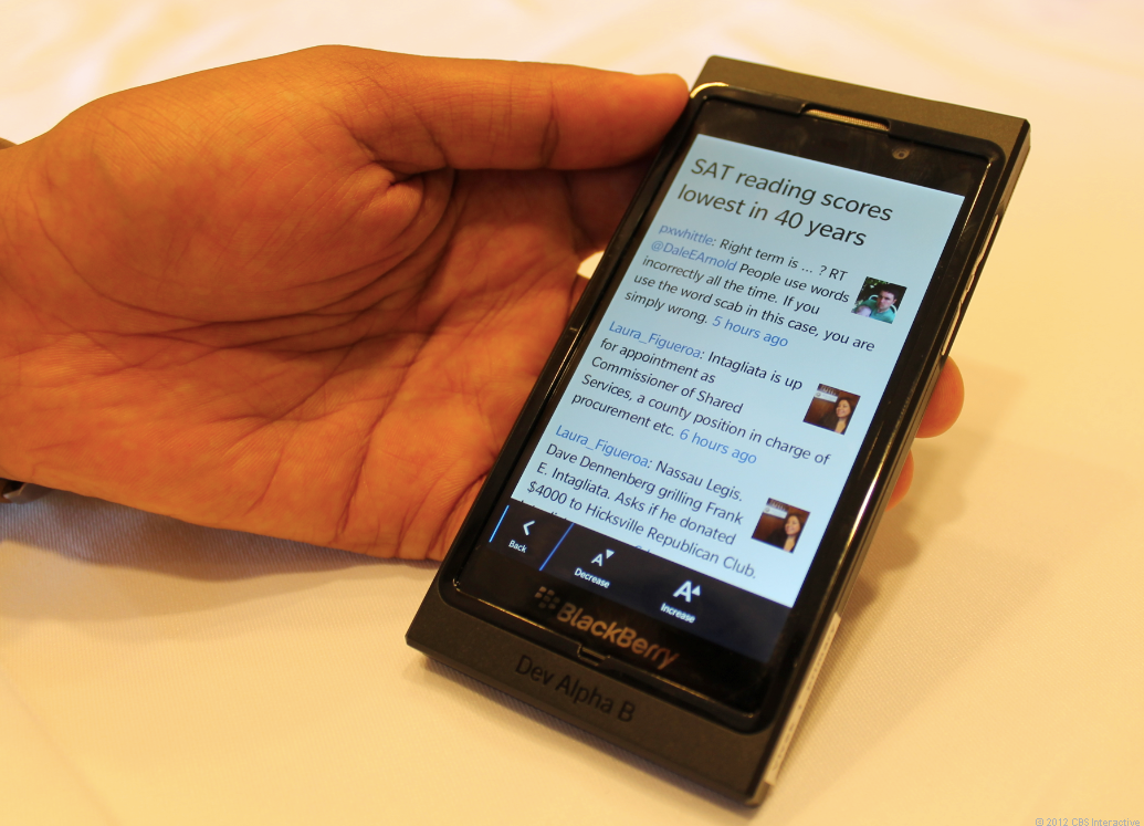Reader Mode in the BlackBerry 10 OS browser