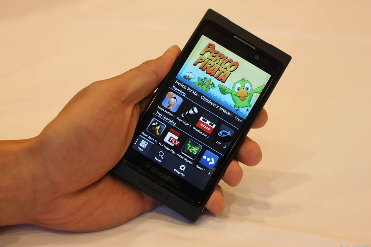 BlackBerry 10 on the Dev Alpha device