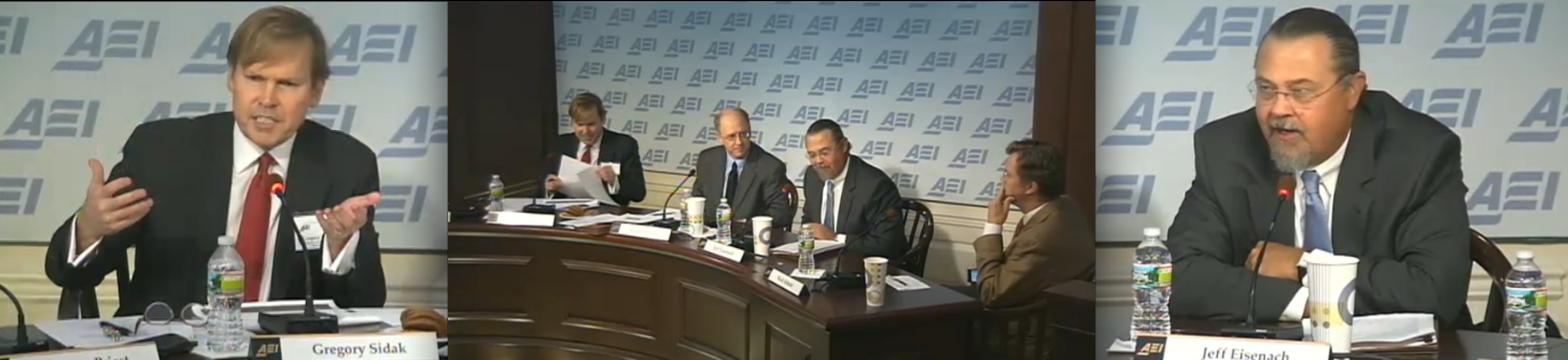 Economists at an American Enterprise Institute event today debate Robert Bork's arguments against antitrust action aimed at Google.