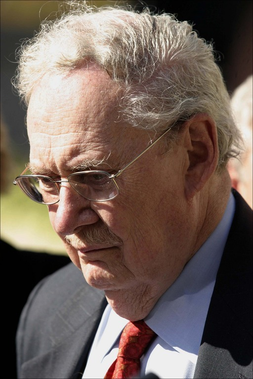 Conservative legal scholar and former Yale professor Robert Bork, shown here in a file photo, took aim at Microsoft in the 1990s but is defending Google.
