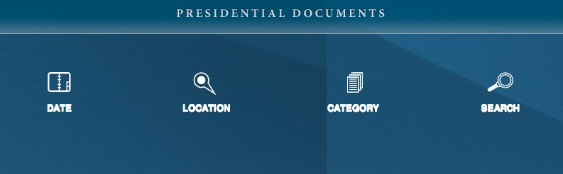 The Presidential Documents app.
