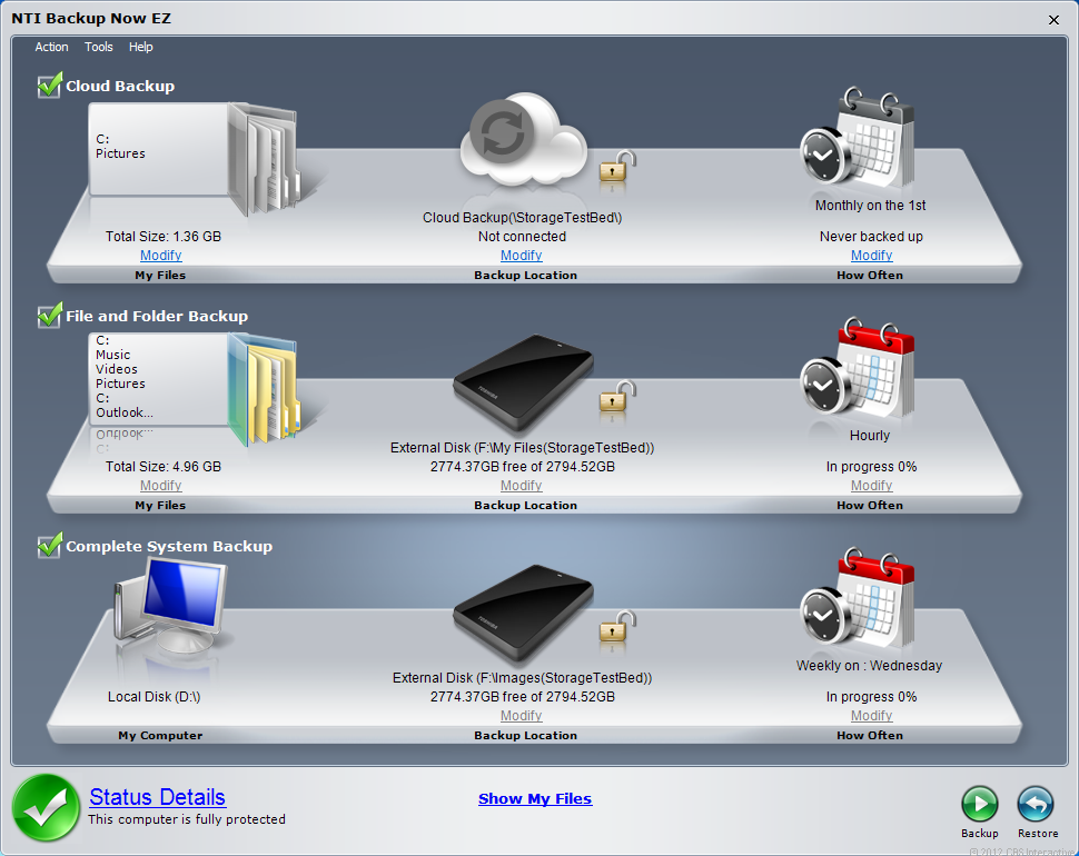 The Canvio Desk's included NTI Backup Now EZ offers a complete and easy-to-use backup solution for home users.