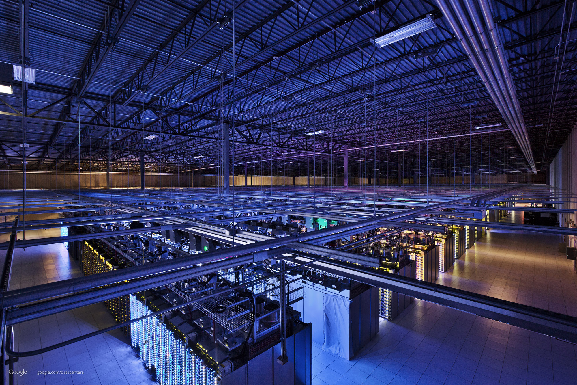 Google's data centers can be vast. This one in Council Bluffs, Iowa, has more than 115,000 square feet of room.