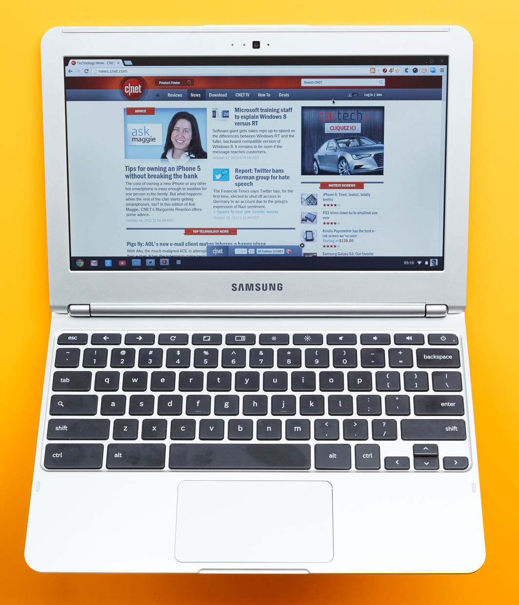 The Samsung Chromebook features an 11.6-inch matte screen.