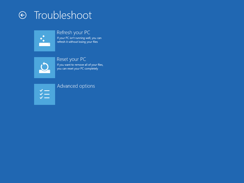 Troubleshoot at boot