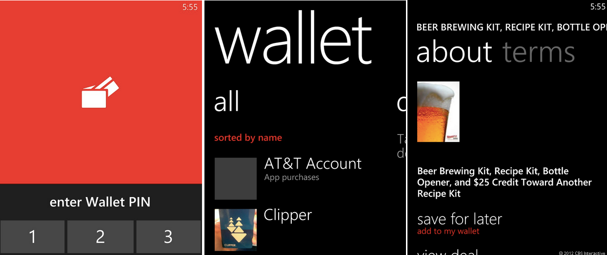 New wallet app in Windows Phone 8
