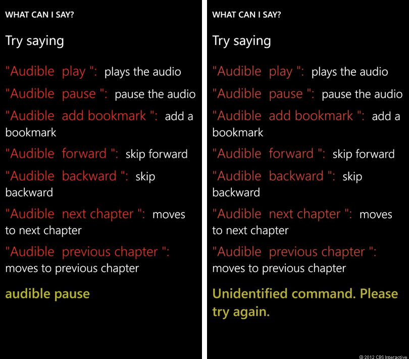 Third-party voice commands at work in Audible