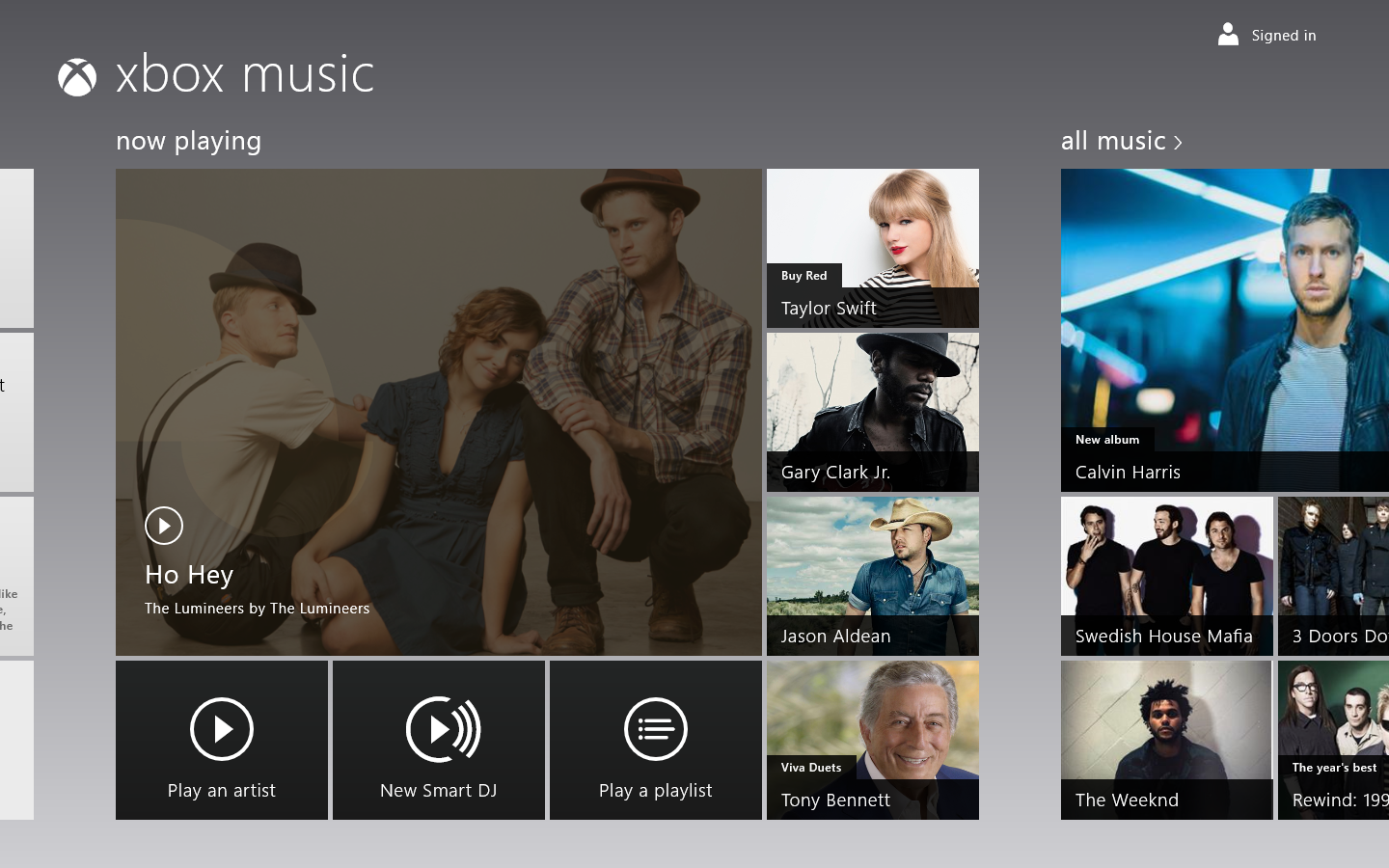 Xbox Music on Windows 8