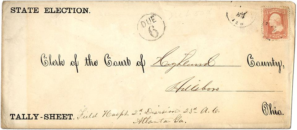 Civil War absentee ballot
