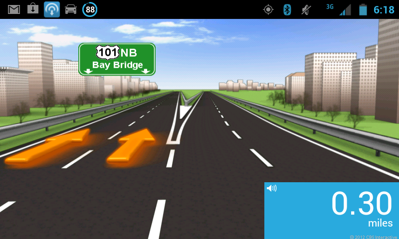 lane guidance in the TomTom app