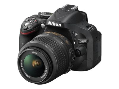 Nikon D5200 (with 18-55mm lens, Black)