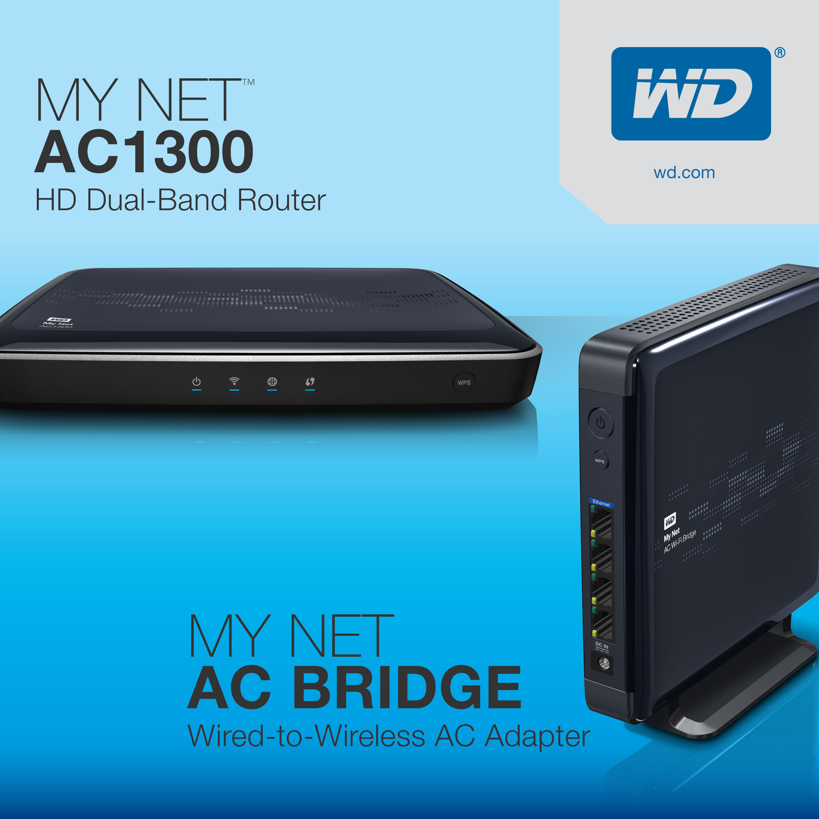 The new My Net 802.11ac router and media bridge from WD.