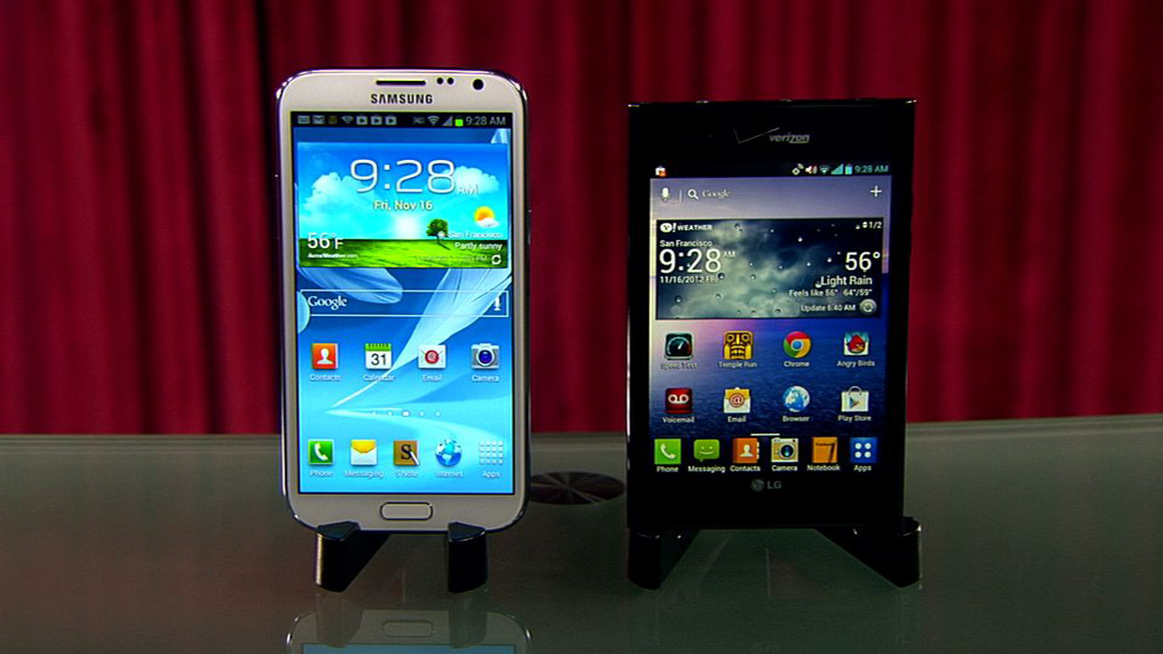 Samsung Galaxy Note 2 vs. LG Intuition