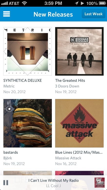 Rdio (for iOS)