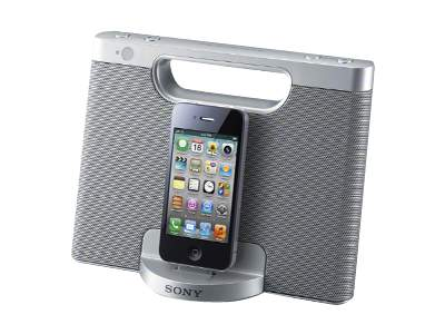Sony RDP-M7iP - speaker dock - with Apple cradle - for portable use