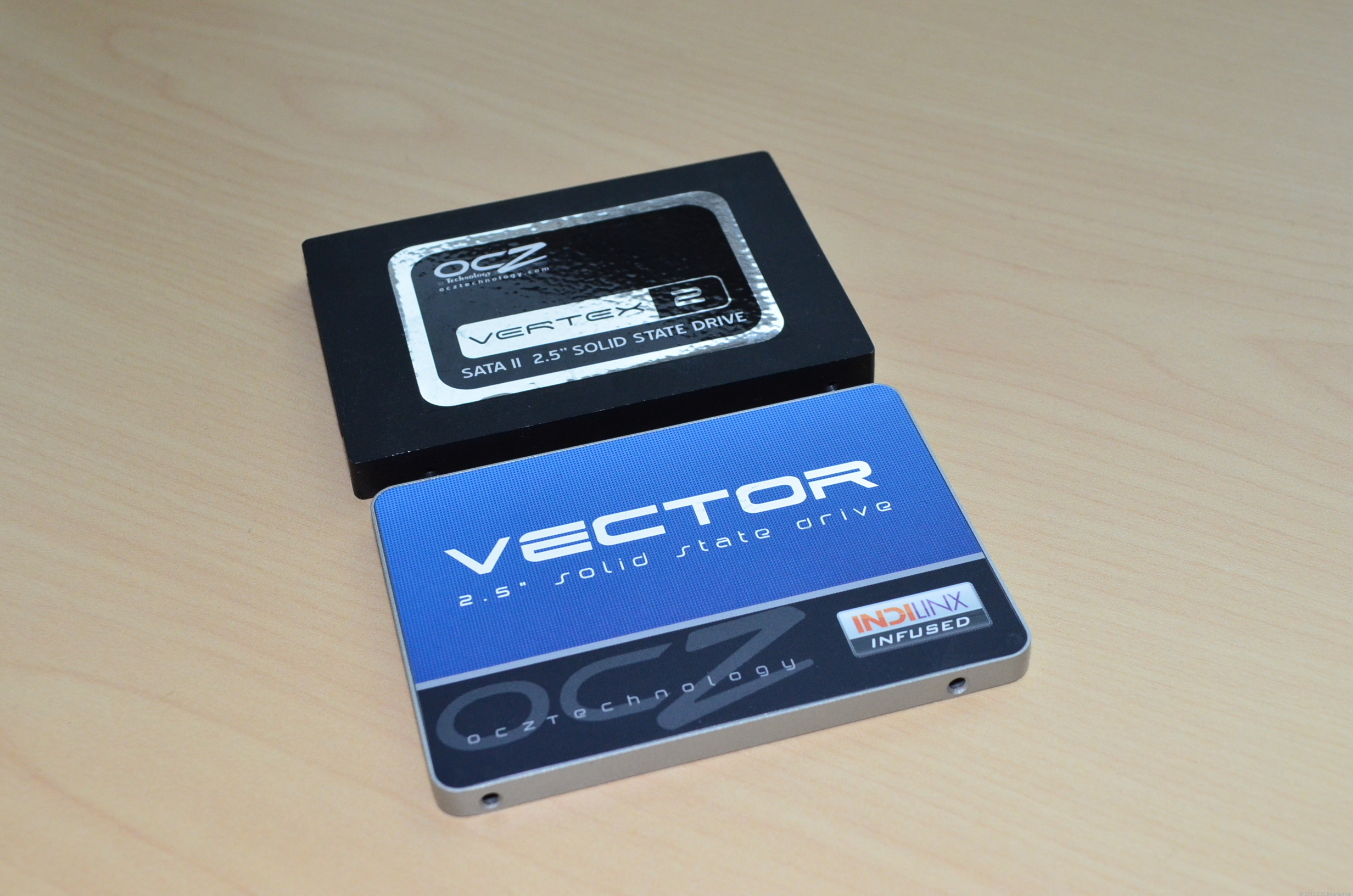 The Vector (bottom) brings style to OCZ SSDs.