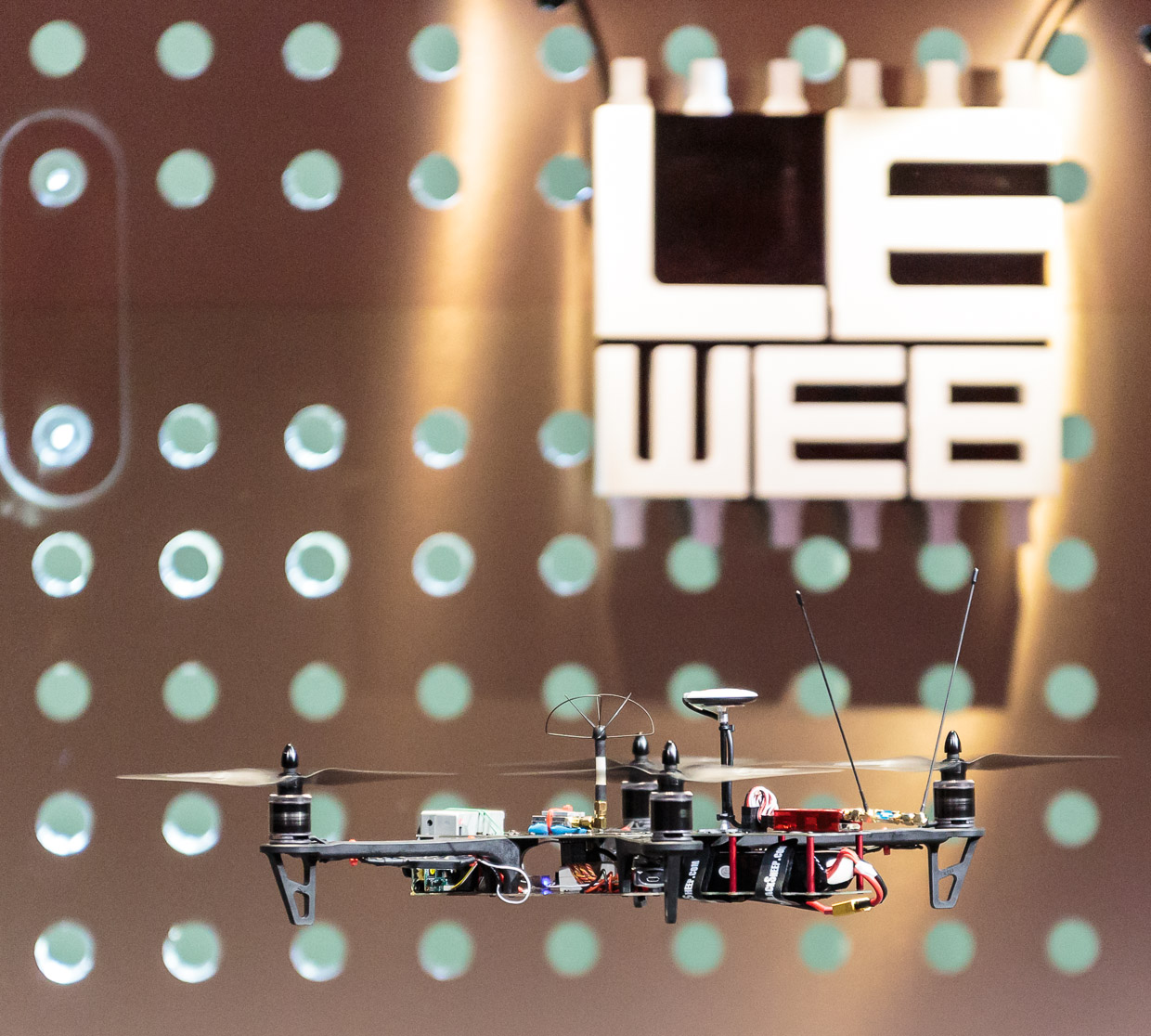 Team BlackSheep's TBS Discovery quadcopter at LeWeb 2012.