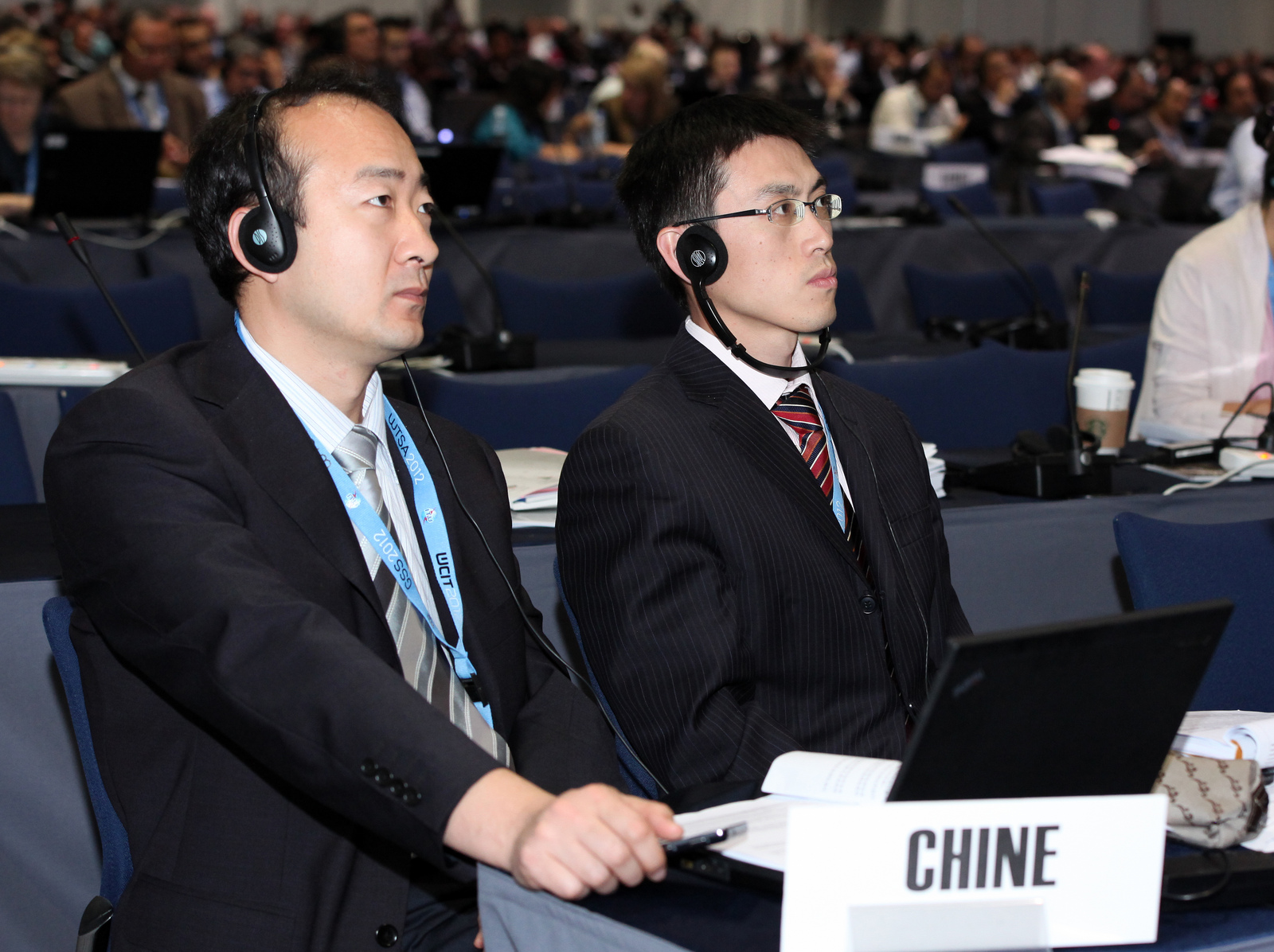 "China's delegation, shown here at the Dubai summit that ends Friday, cited the ""security of the state"" when objecting to human rights language."